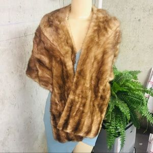 beautiful MINK soft shades or brown real fur shall